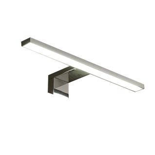 Trendteam LED-Aufsatzleuchte 1100-227-00 in Chrom Beleuchtung für Spiegelschränke Länge ca. 30cm weißes Licht inkl. Schalter und Stecker für Ihr Badezimmer