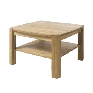 MCA Furniture Couchtisch Kalipso 58782AE7 aus Asteiche Massivholz geölt durchgehende Lamelle bei Tischplatte und Stollen für Ihr Wohnzimmer