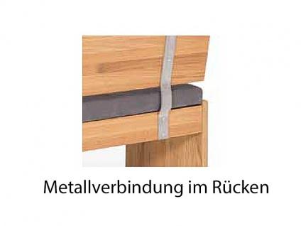 Standard Furniture Truhenbanksystem Stockholm Sitzbank mit oder ohne Rückenlehne wählbar Massivholz in 3 Holzausführungen Größe und Bezug wählbar Bank für Ihr Esszimmer oder Gaderobe - Vorschau 4