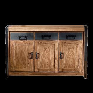 Sit Möbel PANAMA Sideboard im Industrie Stil aus Sheesham Holz Metallbeschläge