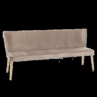 Standard Furniture Polsterbank Jennifer mit Rückenlehne für Wohnzimmer oder Esszimmer mit Wellenfederung und Ziernähten, auch als Küchensofa geeignet, erhältlich in verschiedenen Größen, Gestellarten und Bezügen
