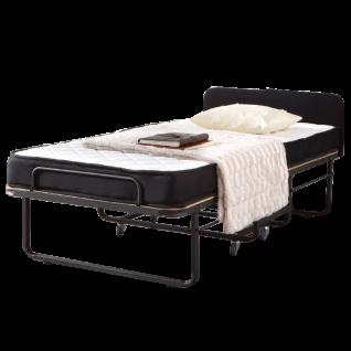 Dico Möbel Raumsparbett Roomstar inklusive Matratze und Husse mit gepolstertern Kopfteil und Klappautomatic Liegefläche ca. 90 x 200 cm
