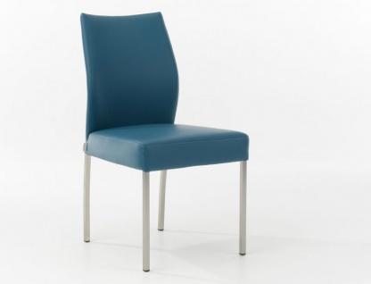 Bert Plantagie Stuhl Crac Polsterstuhl für Esszimmer mit zweifarbiger Polsterung möglich Gestellausführung und Bezug in Leder oder Stoff wählbar