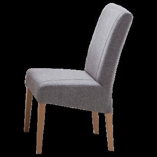Standard furniture Stuhl Leon mit aufwendig farblich abgesetzten Kontrastnähten Polsterstuhl für Esszimmer Gestellausführung und Bezug wählbar
