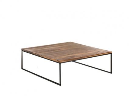 Willi Schillig Tisch 40024 moderner Couchtisch Type LN 125 mit massiv geölter Nussbaum-Holztischplatte und einem anthrazitfarbenen Stahluntergestell ***AM LAGER***