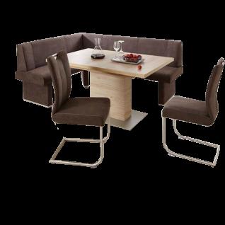 Niehoff herrliche Eckbankgruppe Pia bestehend aus Eckbank Pia einem Schiebeplattentisch und 2 Schwingstühlen ideal für Ihr Esszimmer