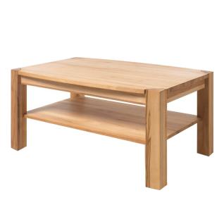 MCA Furniture Couchtisch Kalipso 58783KB1 aus Kernbuche Massivholz geölt durchgehende Lamelle bei Tischplatte und Stollen für Ihr Wohnzimmer