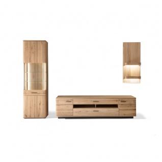 MCA furniture Wohnkombination 1 Salvador Front in Balkeneiche Bianco Massivholz Korpus außen Eiche Bianco furniert geölt Art.Nr. SAD52W01