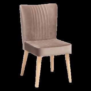 Standard Furniture Polsterstuhl Jan für Wohnzimmer oder Esszimmer mit aufwendigen Steppungen Gestell und Bezug wählbar