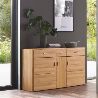 MCA Furniture Florenz Sideboard T01 für Ihr Wohnzimmer oder Esszimmer Kommode mit drei Türen und drei Schubkästen Anrichte in Grandson Oak Nachbildung - Vorschau 2