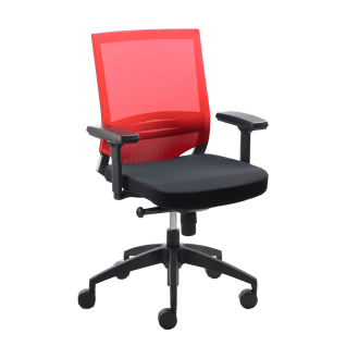 Mayer Sitzmöbel Drehstuhl myOptimax 2475.02 Bezug rot/schwarz für's Büro oder Arbeitszimmer