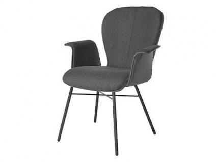 Bert Plantagie 632C Blake Four Komfort mit Uni-Mattenpolsterung Stuhl für Esszimmer Esszimmerstuhl mit Armlehnen Gestellausführung und Bezug in Leder oder Stoff wählbar