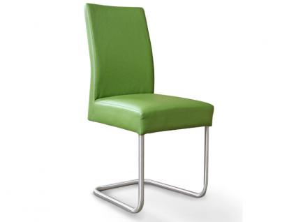 Standard Furniture Schwingstuhl Kadira mit Komfort-Kaltschaumsitz Polsterstuhl für Wohnzimmer oder Esszimmer Gestellausführung und Bezug wählbar