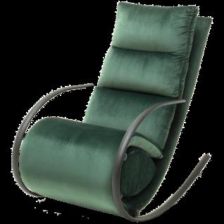 MCA furniture Relaxsessel York mit Fußstütze Art.Nr. 64068US3 Bezug Samt - Velvet in Dunkelgrün Gestell Schwarz matt pulverbeschichtet