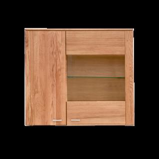 Standard Furniture Kopenhagen Hängevitrine breit rechts Massivholz Kernbuche geölt Eiche natur geölt oder Eiche bianco geölt ideal für Ihr Wohnzimmer oder Esszimmer