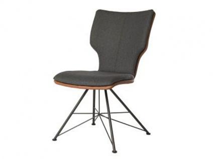 Bert Plantagie Stuhl Joni Spin 713C Komfort Bi-Color-Mattenpolsterung (zweifarbig) Polsterstuhl für Esszimmer Esszimmerstuhl Gestellausführung und Bezug in Leder oder Stoff wählbar