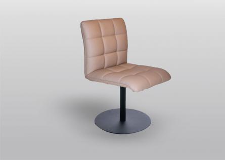 K+W Silaxx 6152 Drehstuhl mit Metallteller 1D Rücken mit Kassettensteppung Bezug Stoff oder Leder Ausführung wählbar
