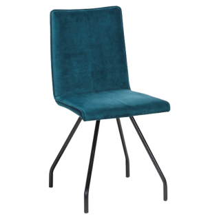 Standard Furniture Polsterstuhl Harry 1 für Wohnzimmer oder Esszimmer mit Stahlgestell Bezug Velour verschiedene Farben wählbar