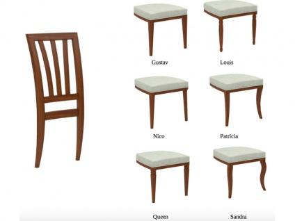 Selva Stuhl Vera 1613 Sprossen-Rückenlehne und Gestell in Massivholz Buche in vielen Beiztönen Polsterstuhl für Wohnzimmer und Esszimmer Fußgestell und Sitzkomfort wählbar - Vorschau 2