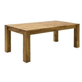 MCA Furniture Paul 06627EO1 Esstisch in der Ausführung Wildeiche geölt Mittelauszug Massivholz Esstisch für Ihr Wohnzimmer