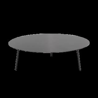 Niehoff Garden Valencia Loungetisch G803-100-000 Gestell und Tischplatte aus Aluminium anthrazit Rundtisch Durchmesser ca. 100 cm für Ihren Garten