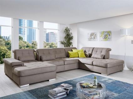 Poco San Marino Ecksofa bestehend aus Longchair 2-Sitzer Spitzecke und Abschlußteil Couch inkl. Schwenkrücken spiegelverkehrt lieferbar, Bezug Kopfteilverstellung Armteilverstellung wählbar