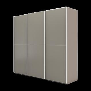 Nolte Möbel Marcato 2.2 Schwebetürenschrank Ausführung 2 mit 3 waagerechten Sprossen Korpus in Dekor und Front in Glas matt Farbausführung und Schrankgröße wählbar