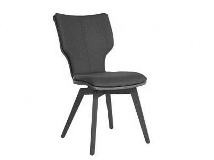 Bert Plantagie Stuhl Joni Wood Komfort 715C mit Uni-Mattenpolsterung Polsterstuhl für Esszimmer Speisezimmerstuhl ohne Armlehnen Gestellausführung Naht Reißverschlußfarbe und Bezug wählbar