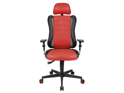 TopStar Sitness Racer RS Drehstuhl mit Sitzhöhenverstellung Armlehnen verstellbarer Rückenlehne und inkl. höhen-und neigungsverstellbarer Kopfstütze Gaming-Stuhl mit Bezug in Kunstleder Lotos Farbe wählbar