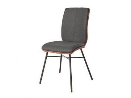 Bert Plantagie Stuhl Tara Four Komfort 812C mit Bi-Color-Mattenpolsterung Polsterstuhl für Esszimmer Esszimmerstuhl mit modernem Vierfußgestell Gestellausführung und Bezug wählbar