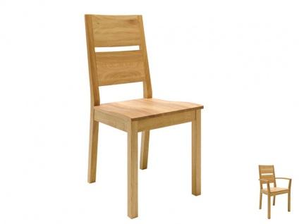 Wimmer Silent2 Stuhl Rücken Sitz und Untergestell aus Holz mit geteilter Rückenlehne für Ihr Esszimmer und Ihre Küche