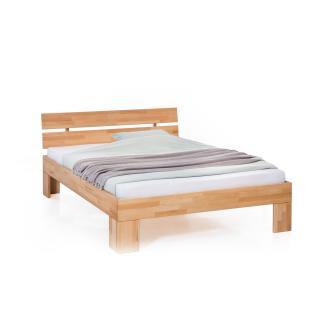 Woodlive Bett Easy in Kernbuche Massivholz natur geölt Liegefläche wählbar für Schlafzimmer oder Gästezimmer