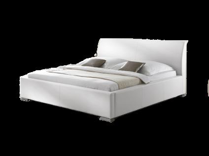 Meise Möbel ALTO-COMFORT Polsterbett mit Kunstlederbezug in weiß schwarz braun oder muddy und glattem Kopfteil Liegefläche wählbar