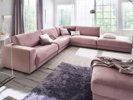 Candy Wohnlandschaft Ecksofa Sofa Giant für Wohnzimmer Bezug Stoff oder Leder wählbar