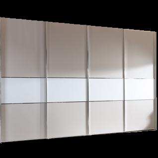 Staud Sinfonie Plus Schwebetürenschrank Ausführung 108D Korpus und Mittelband im gleichen gewählten Dekor Front in einen anderen Dekor wählbar