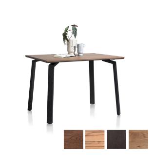 Habufa Moreni Tresentisch mit furnierter fester Tischplatte und Vierfußgestell aus Metall schwarz Holzfarbe Tischgröße und Gestellausführung wählbar