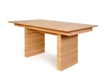 Standard furniture Esstisch Woody mit aufwendigen Fräsungen an den Wangen Speisezimmertisch in Eiche Tisch für Esszimmer Größe und Ausführung wählbar