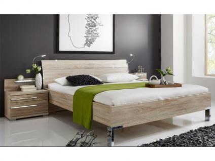 Wiemann Hollywood 4 Bett Kopfteil mit 3 Leisten in chrom Liegefläche und Dekorausführung wählbar