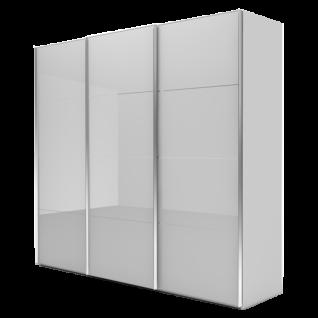 Nolte Möbel Marcato 2.5 Schwebetürenschrank Ausführung 5 mit 5 waagerechten Sprossen Korpus in Front in Glas Farbausführung und Schrankgröße wählbar