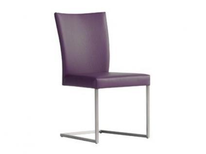 Bert Plantagie Misty Freischwinger mit Edelstahlgestell Stuhl für Esszimmer Schwingstuhl Bezug in Leder oder Stoff wählbar