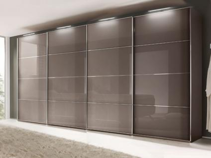 Nolte Marcato Schwebetüren-Panoramaschrank 4-türig Ausführung 5 Glastüren und / oder Grauspiegeltüren, Größe, Front- und Korpusfarbe wählbar