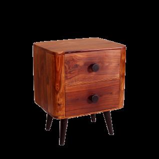 Sit Möbel KNOB Nachttisch aus Sheesham Holz massiv Beine antikschwarz