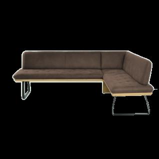 K+W Silaxx Eckbank Tribeka 4022 in einer Vielzahl an wählbaren Stellvarianten und exklusiven Bezügen in Stoff oder Echtledereder