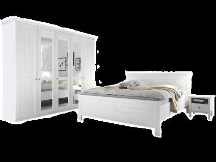 Schlafkontor Bellevue Schlafzimmer bestehend aus einem Bett Kleiderschrank 5-türig sowie 2 Nachtkommoden Front und Korpus in Anderson Pine