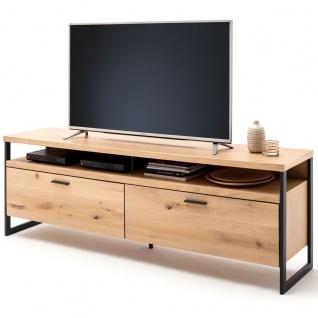 MCA furniture Lowboard Art.Nr. SAO14T30 Front Balkeneiche Bianco Massivholz mit durchgehenden Lamellen Korpus Eiche Bianco furniert