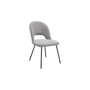 K+W Silaxx Stuhl 6272 mit einem exklusiven Rückendesign und modernen Rundrohrfüßen und einer Vielzahl an wählbaren Bezügen in hochwertigem Stoff oder exklusiven Leder