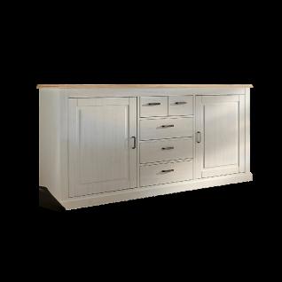 Wohn-Concept Lima Sideboard 20 in Pinie Hell Oberboden MDF Farbe wählbar Kommode mit zwei Holztüren und fünf Schubkästen für Ihr Wohnzimmer oder Esszimmer - Vorschau 2