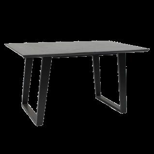 Standard furniture Esstisch Sant Etienne mit schwarz lackiertem Massivholzgestell und Dekton-Tischplatte Ausführung wählbar