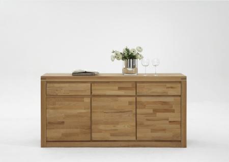 Elfo-Möbel Delft Sideboard 6210 mit 3 Schubkästen 3 Türen in Holz Massivholz Kernbuche für Wohnzimmer oder Schlafzimmer - Vorschau 4