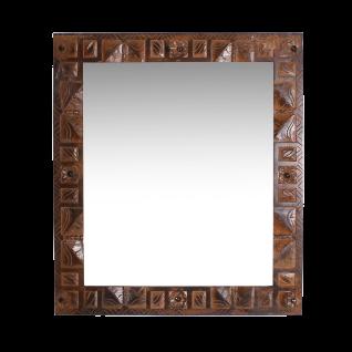 Sit Möbel ALMIRAH Spiegel braun aus recyceltem Holz mit Schnitzereien